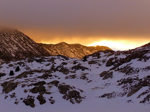 Photo: We also witnessed a pretty badass sunset and some amazing colors. It made us feel quite pleased to be up this high in winter at this time of day