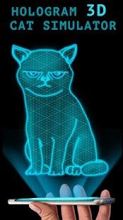 Hologram 3D Cat Simulator - náhled