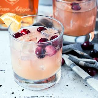 Cranberry Orange Rum Spritzer.