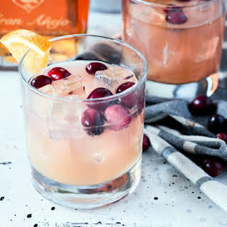 Cranberry Orange Rum Spritzer.