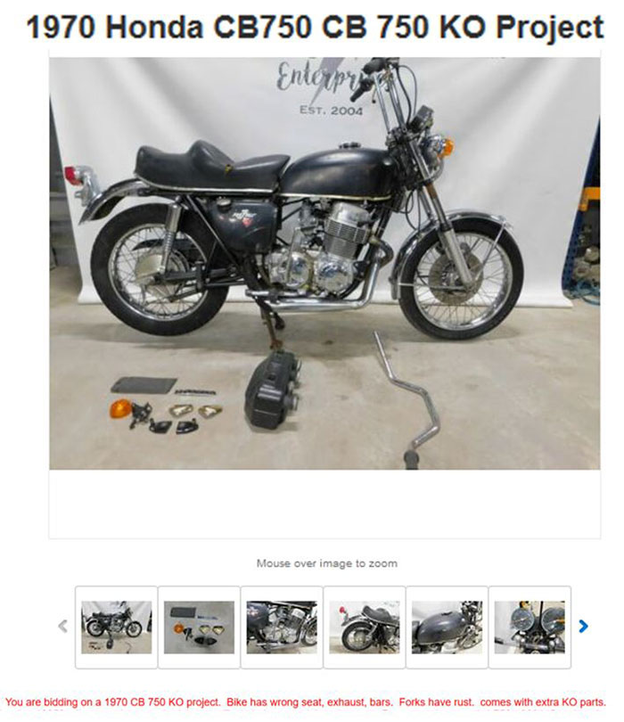 Honda CB750 For Sale