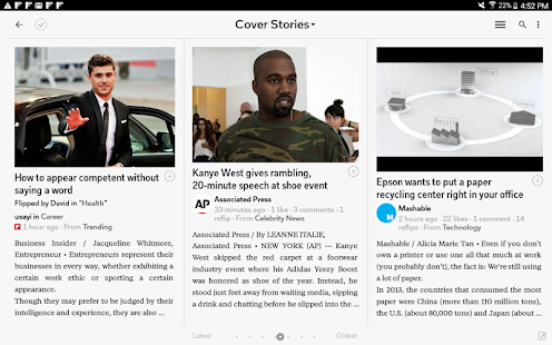 Flipboard: Your News Magazine- screenshot thumbnail