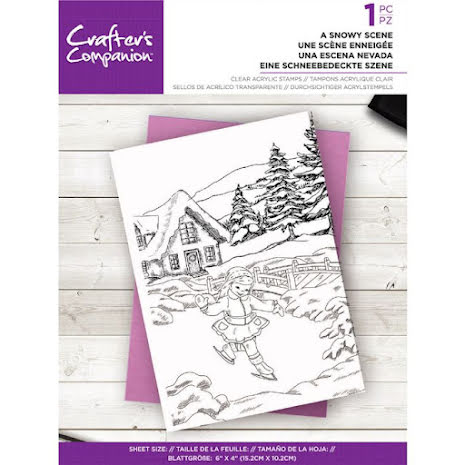 Crafters Companion Clear Acrylic Stamp - A Snowy Scene