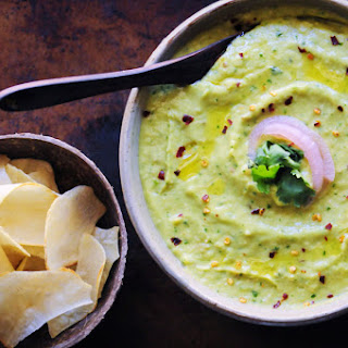 Spicy Cilantro Avocado Hummus (Vegan, Gluten-Free) Recipe