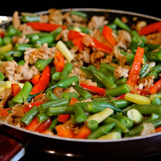 Szechuan Green Bean and Minced Turkey Stirfry.