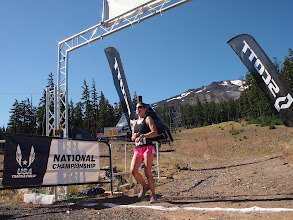 Photo: The finish line with Mt. Bachelor in the background
