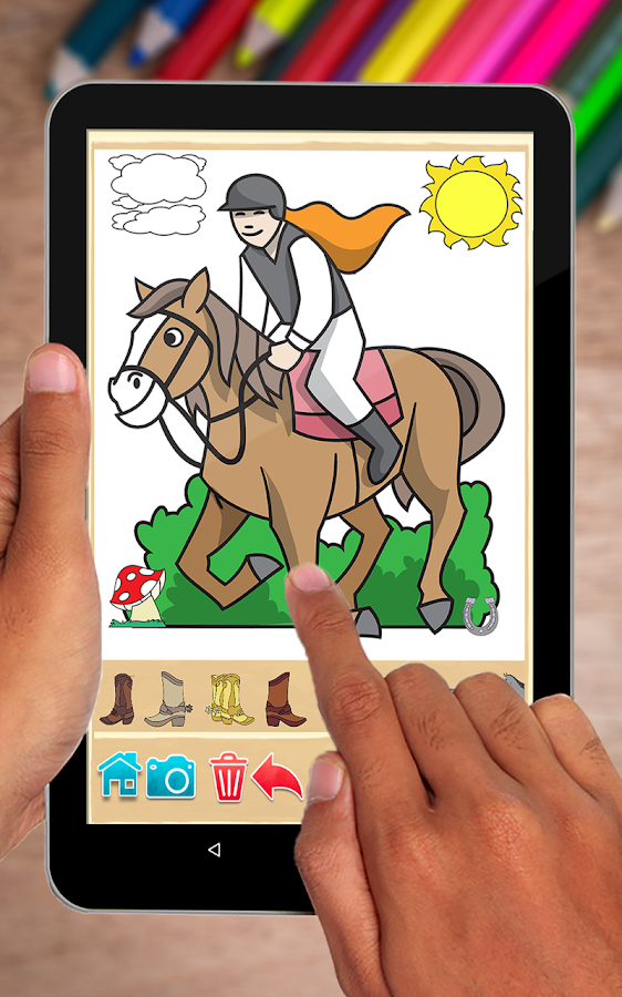 Horse Coloring Book- screenshot