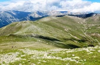 Photo: le Bac du Costabona et la Soulane des Esquerdes , roc Colom en haut du Talweg