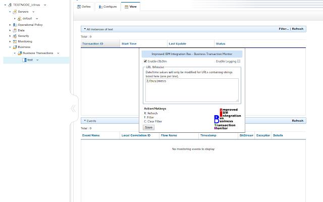 Improved IIB Business Transaction Monitor