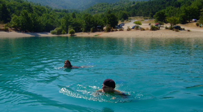 Open water swimming events
