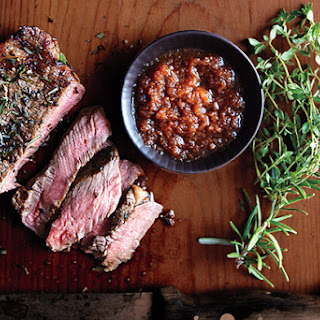 Strip Steak with Japanese Dipping Sauce.
