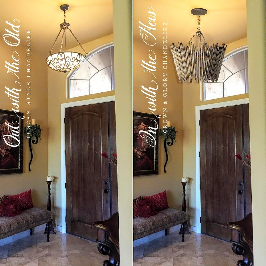 Cote de texas the aidan gray agwithanedge winners renee wrote how amazing would this crown glory chandelier by aidan gray set the tone for our homes entryway mozeypictures