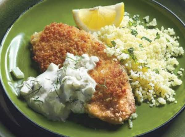 Crispy Tilapia Fillets With Fennel-mint Tzatziki Recipe