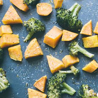 Roasted Broccoli And Sweet Potatoes
