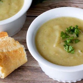 Vegan Potato Leek Soup.