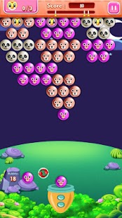 Night Bubble Shooter Game - náhled