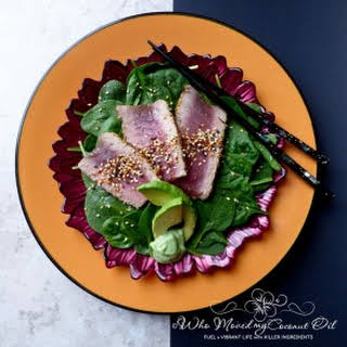 Ahi Tuna Salad with 5-Seed Mix.