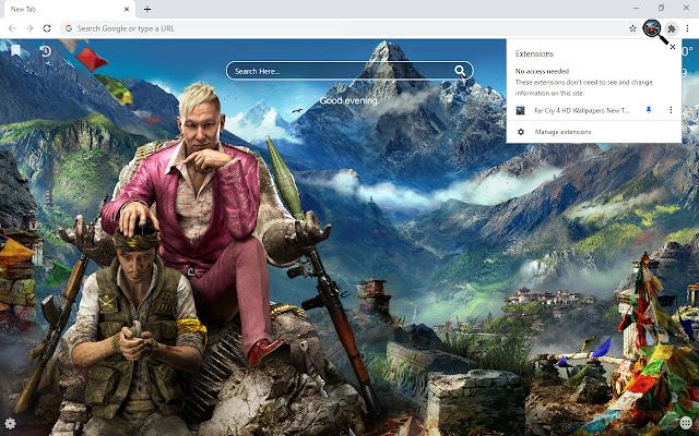 Far Cry 4 HD Wallpaper New Tab