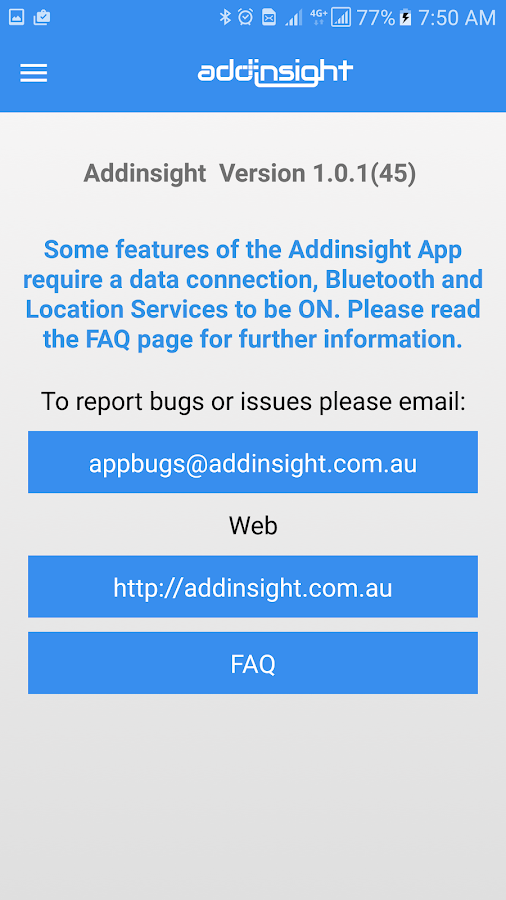 Addinsight- screenshot