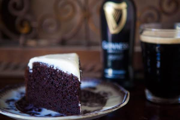 Get In The Mood For St. Patrick's Day With This Rich, Chocolatey, Moist, Out-of-this-world Chocolate Guinness Cake Complete With Foam Looking Icing.