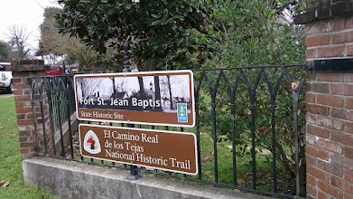 Photo: Fort St. Jean Baptiste signage Natchitoches