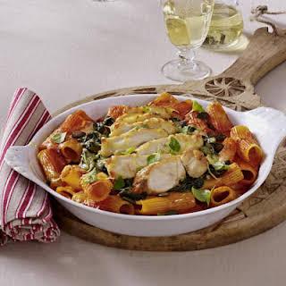 Chicken and Spinach Pasta Bake.