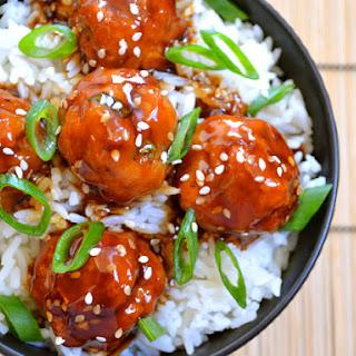 Teriyaki Meatballs Rice Recipes
