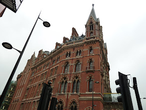 Photo: Arriving in London, we stayed near the Saint Pancras train station (shown here) in the not-so-great Ibis Hotel.