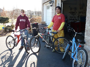 Photo: Plong Plong donates bikes Grovers in NJ for BfP