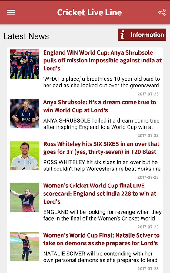 Cricket Live Line- screenshot