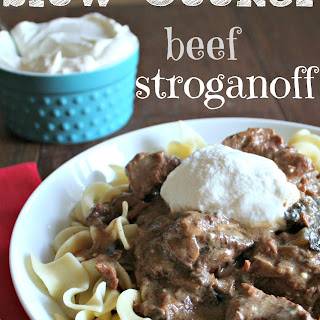Slow Cooker Sour Cream Beef Stroganoff