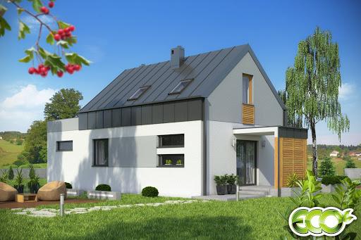 projekt Eco 3 z garażem 1-st. A