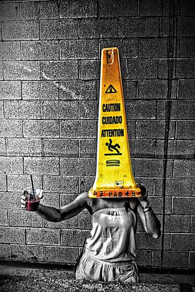 Photo: Caution: Drunken Conehead