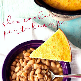 Easy Slow Cooker Pinto Beans.