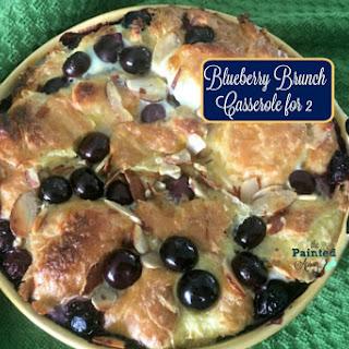 Recipe Box, Blueberry Brunch Casserole for 2.