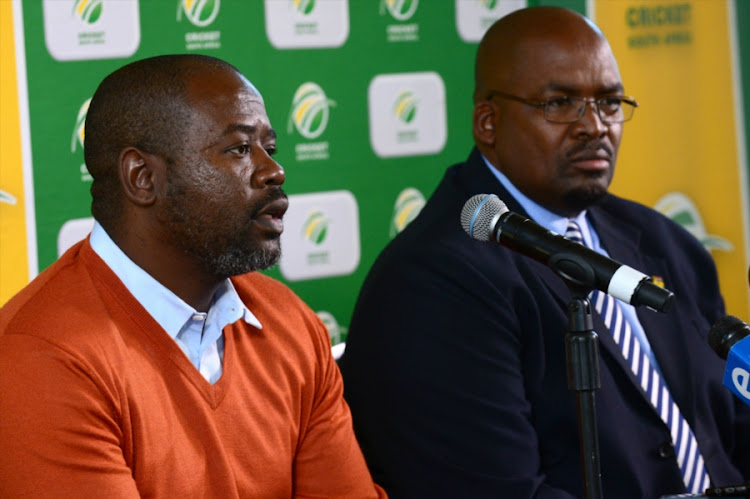 Thabang Moroe (CSA Vice President) during the CSA media briefing at Mangaung Oval on October 06, 2017 in Bloemfontein, South Africa.