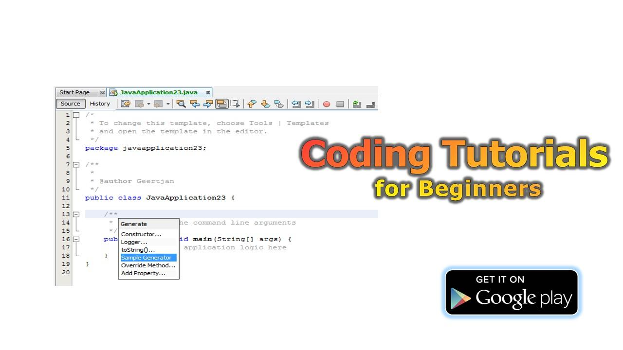 Coding tutorials for beginners android apps on google play coding tutorials for beginners screenshot baditri Gallery