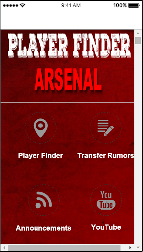 Player Finder Arsenal FC