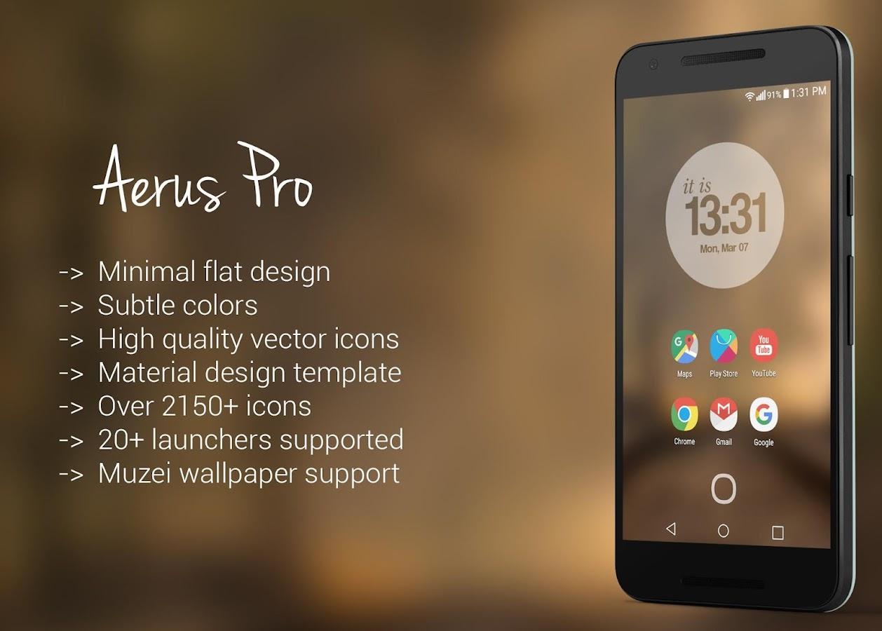 Gmail mobile theme - Aerus Icon Pack Theme Screenshot