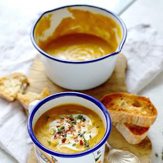 Spiced Red Lentil And Root Vegetable Soup (Vegan).
