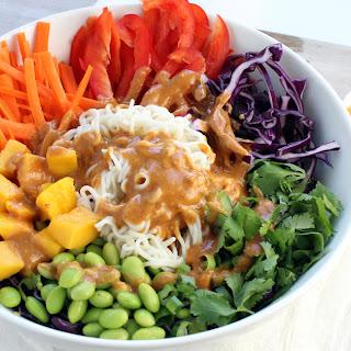Rainbow Shirataki Bowl with Peanut Lime Sauce