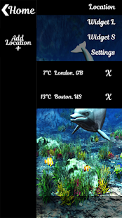 Dolphin Clock And Weather - náhled
