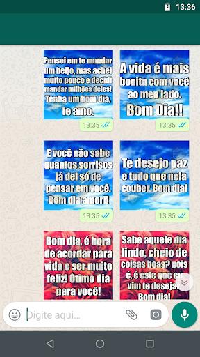Figurinhas de Frases de Bom Dia,Tarde, Boa Noite 1.0 screenshots 2