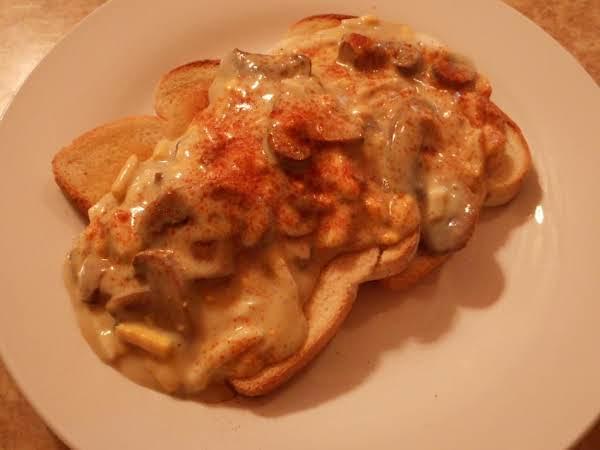 Creamy Mushroom And Egg Toast