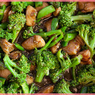 Chinese Takeout Chicken and Broccoli.