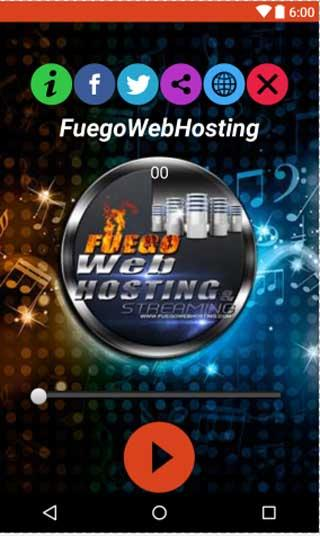 FuegoWebHosting- screenshot