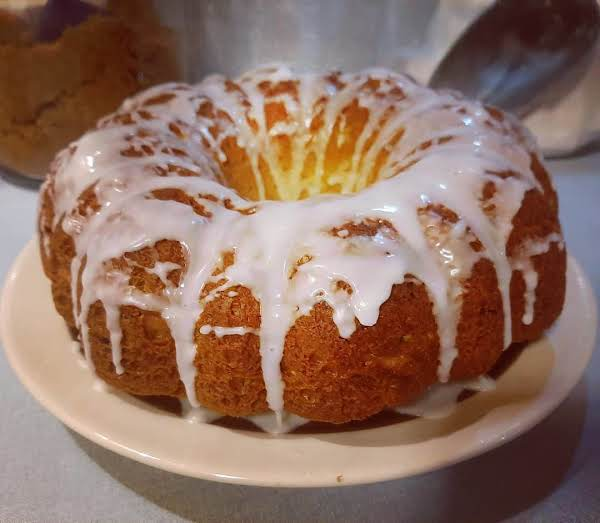 Lemon Zucchini Cake With A Light Lemon Glaze.