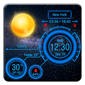 Phone Dashboard Weather Widget with Battery