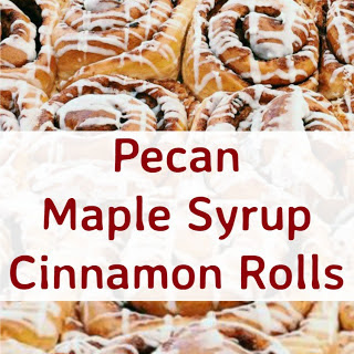 Pecan Maple Syrup Cinnamon Rolls