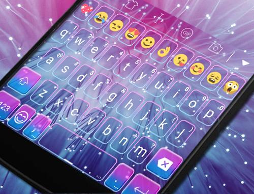 Bright Keyboard Theme -Emoji